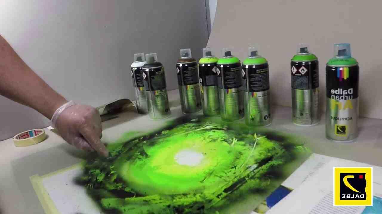 Comment faire une peinture à la bombe ?